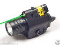 ADE All Metal Rifle Tactical 200 Lumen CREE LED FlashLight w/ GREEN Laser Sight