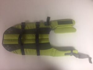 Top Paw Life Jacket Green Reflective Floatation Medium Dog Harness NEW W/O TAGS