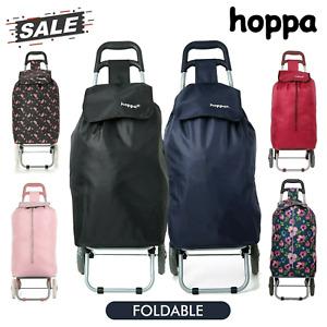 Extra Large Folding 2 Wheeled Bag Shopping Trolley Cart Light Weight 47L Hoppa