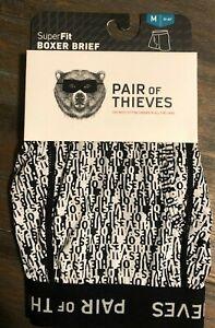 Men's Pair of Thieves SuperFit Boxer Brief Underwear Black & White Size M Medium