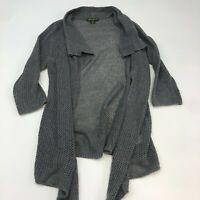 Eddie Bauer Cardigan Sweater Women's XL  Long Sleeve Gray Knit Open Front Casual