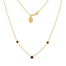 Genuine Ruby Necklace 14K Gold Pendant July Birthstones Free Engrving 0.20ct