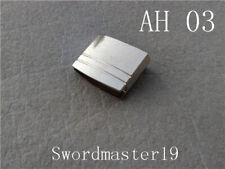 32 mm Silver Color Anodized Alloy Habaki Ha Slot Japanese Katana Wakizashi Tanto