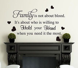 Family Blood Wall Art Quotes Vinyl Wall Sticker, DIY Wall Decal- High Quality