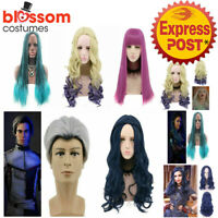 N24 Descendants Movie Mal Evie Carlos Uma Cosplay Party Wig Cosplay Hair Costume