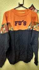 Fu's man jumper vintage retro old school size S orange/navy NEW WITH TAG