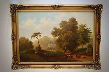Gemälde von Heinrich Bürkel Öl auf Leinwand Stuckrahmen museale Qualität