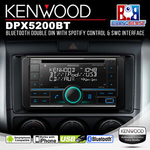 Kenwood DPX-5200BT 2-DIN USB/CD Receiver w/ Bluetooth & Smartphone Connectivity