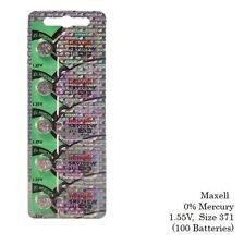 Maxell 371 SR920SW SR920 Silver Oxide Watch Batteries (100Pcs)