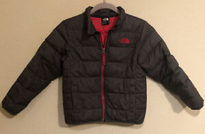 The North Face Boys Blue Puffer 550 Down Filled Coat Winter Jacket XS( 6 )