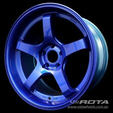 "18"" ROTA RT5-R 5/114.3 +18 Blue WHEELS RIMS FORD, TOYOTA, HONDA, MITSUBISHI"