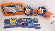 Vtech V Smile TV Learning System Console 2 Controllers Smart Keyboard 12 games