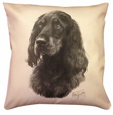 More details for gordon setter ms cotton cushion cover - cream or white cover - gift item