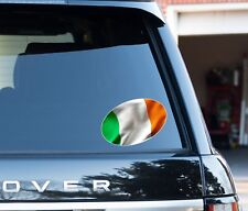 Irish Flag oval Decal Sticker Car, Van, Laptop suit case Rugby ball 6 nations