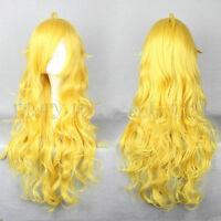 Free Shipping 80cm Long RWBY Yang Xiao Long Yellow Cosplay Wig