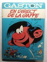 Rare Livre Ancien Gaston en direct de la gaffe 1974