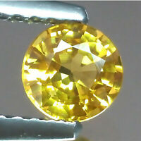 EXCELLENT LUSTER BEAUTIFUL NATURAL YELLOW SAPPHIRE CEYLON 8MM ROUND