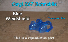 Corgi 267 Batmobile Transparent Blue Windshield - Windscreen - Restoration Part
