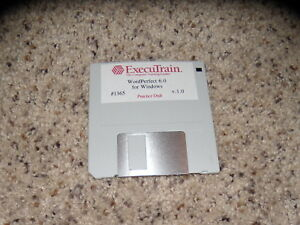 "Executrain WordPerfect 6.0 for Windows 3.5"" floppy disk"