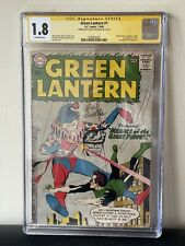 Green Lantern #1 CGC 1.8 SS Signed and Remarked by Joe Giella