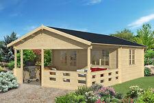 70mm Gartenhaus 500x400 cm Blockhaus Gerätehaus Holzhütte Holz Veranda Holzhaus