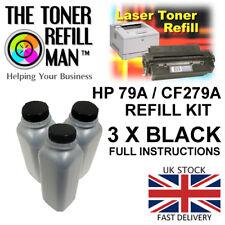 HP LaserJet Pro MFP M12A M12 M26 M26NW 79A CF279A 3 X 80g Black Toner Refill Kit