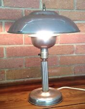 Vintage metal dome desk lamp Light Art Deco Cool 1950s 60s Atomic Modern Nuevo