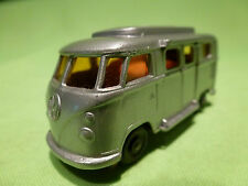 LESNEY  VW VOLKSWAGEN T1 BUS CAMPER - GREY METALLIC - RARE - GOOD CONDITION