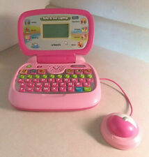 VTECH TOTE AND GO LAPTOP PINK AGES 3-7 EDUCATIONAL LEARNING - BATTS INCLUDED