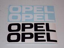 2 x OPEL Aufkleber -Größe: 19,5 x 5cm, in schwarz, alle Farben möglich