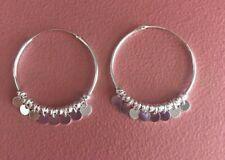 925 Sterling Silver Dangling Big Hoop Earrings - Hoop Earrings with Dangling NEW