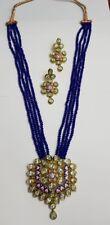 Contemporary semi precious kundan with meenakari work , onyx beaded necklace set