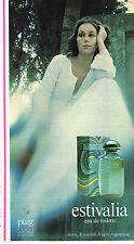 PUBLICITE ADVERTISING 084  1977  PUIG  eau de toilette ESTVALIA