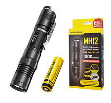 Nitecore MH12 1000 Lumens Rechargeable LED Flashlight - Upgrade of P12 MH10 MH25