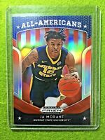 JA MORANT PRIZM ROOKIE CARD JERSEY #12 MURRAY STATE RC GRIZZLIES  2019 Prizm RED