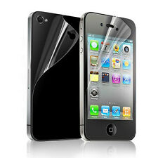2pcs = Front + Back Full Body Clear Screen Protector Flim For iPhone 4 4G 4S