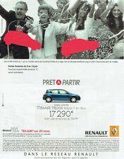 Publicité Advertising 520  2005   Renault  Mégane Hélios berline série limitée