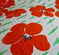 Vintage Burlington Red Poppy King Size Fitted Sheet Beautiful