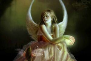 Modern Home Wall Decor Angels and fairies Oil Painting Picture Printed On Canvas