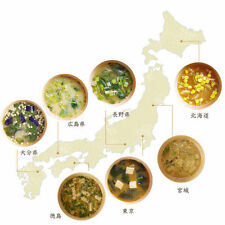 Assorted Freeze-dried Instant Local Miso Soups from 7 Cities in Japan