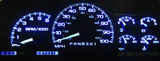 GMC SIERRA 1999 - 2002 BLUE LED SPEEDOMETER GAUGE CLUSTER UPGRADE KIT