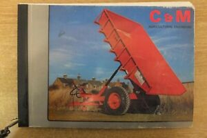 C & M agricultural engineers trailer catalogue book vintage antique