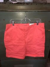 Stylus Women's Sz 10 Casual Shorts Coral Flat Front Pockets  NEW Cotton