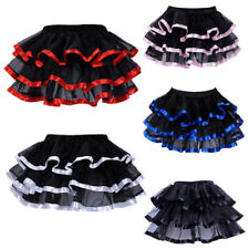 Women Dance Tutu Layered Petticoat Mini Skirt Burlesque Underskirt  Pettiskirt