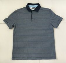 Men's Nautica Polo Shirt | Size M | Navy with White Stripes