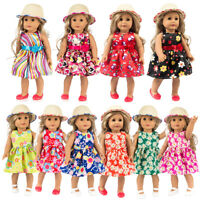 Doll Dress For 18 Inch Clothes For Baby Born Doll Accessory Baby Kids Girl Gift
