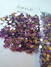 400pcs 4,8 mm púrpura flatback Rhinestone de acrílico Gem cuentas de cristal de Nail Art