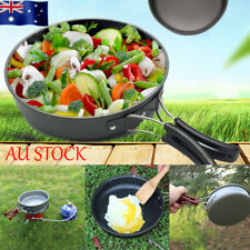 AU Portable Outdoor Picnic Camping Backpacking Cookware Non-stick Frying Pan Set