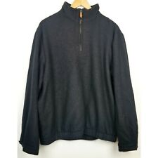 Peter Millar mens jacket XL black speck pullover long sleeve cashmere silk lined