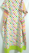 Little Miss Matched 1 Flat Sheet  Polka Dots Stripes Rain Bow 66 x 96 inches